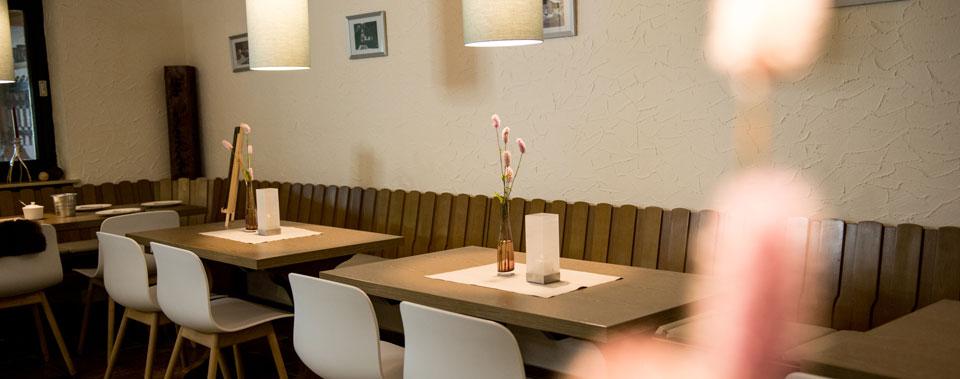 Das im modernen Alpin Still eingerichtete Restaurant